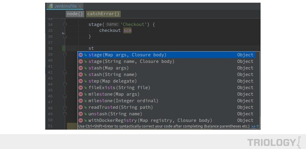 Jenkins Pipeline plugin: code completion in IntelliJ