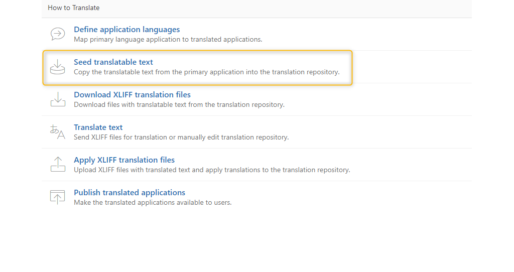 Multilanguage database applications using Oracle APEX